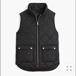 j.crew black excursion vest